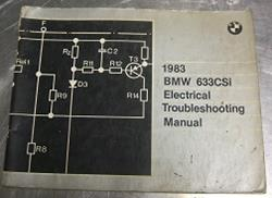 1983 E24 633CSi Electrical Troubleshooting Manual