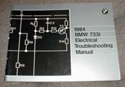 1984 E23 733i Electrical Troubleshooting Manual