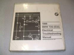 1988 E32 735i Electrical Troubleshooting Manual