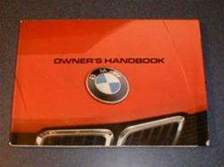 1982 E28 5 Series Owners Manual