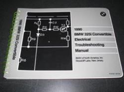 1990 E30 325i Convertible Electrical Troubleshooting Manual