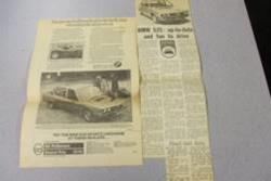 1975 E12 5 Series Newspaper Clippings